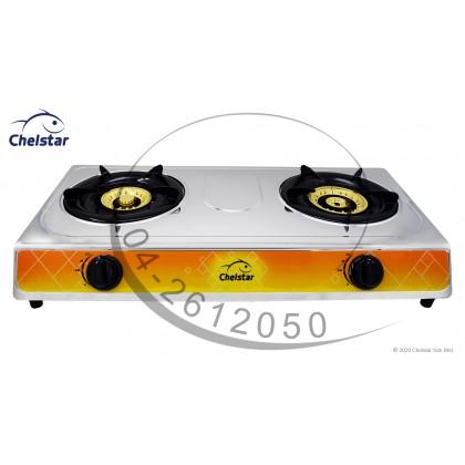 Chelstar Stainless Steel Table Top Double Burner Stove / Gas Cooker (J-8888K)