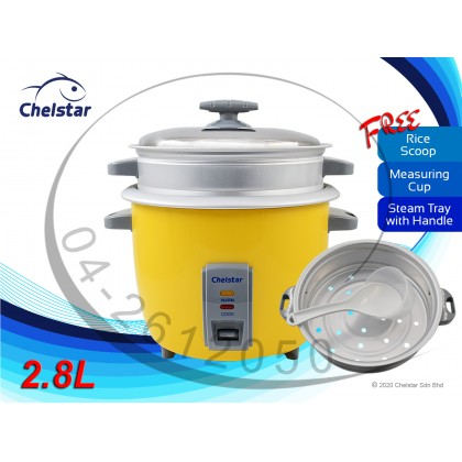 Chelstar 2.8 Liter Electric Rice Cooker (CRC-028)