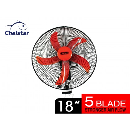 "Chelstar 18"" Commercial Wall Fan (CCWF-18 O)"