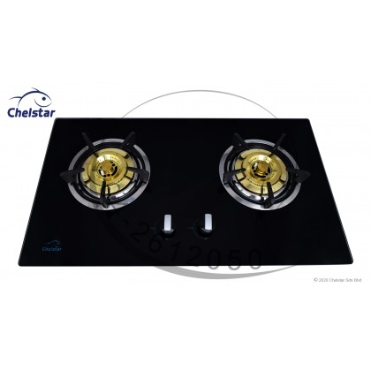 Chelstar Double Burner Built-in Glass Hob (CGH-998J)