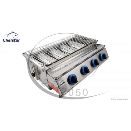Chelstar 4 Burner Commercial Auto BBQ Stove (CBQ-40)