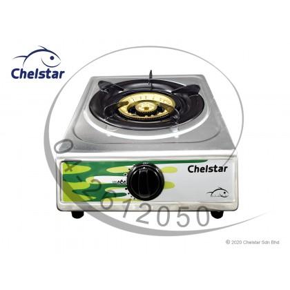 Chelstar Stainless Steel Single Burner Table Top Stove / Gas Cooker (SE-80K)