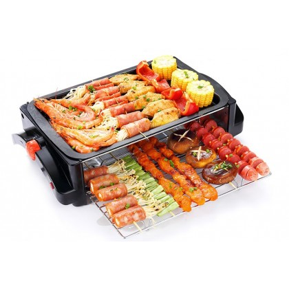 Korean Electric BBQ Plate Oven Skewer Nonstick Plate Smoke Free (MKD-619)