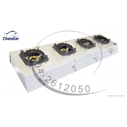 Chelstar Four Burner Commercial Table Top Stove / Gas Cooker (MS-4A)