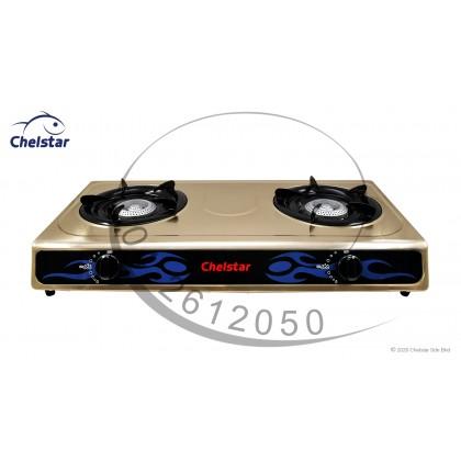 Chelstar Double Burner Table Top Stove / Gas Cooker (J-4000K)