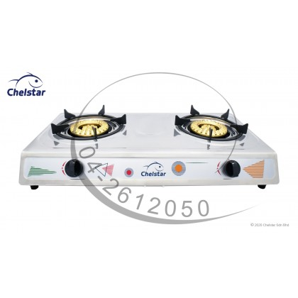 Chelstar Stainless Steel Double Burner Table Top Stove / Gas Cooker (J-3333T)