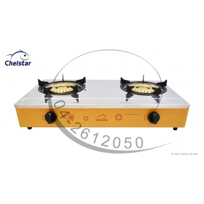 Chelstar Stainless Steel Double Burner Table Top Stove / Gas Cooker (CDF-923T)