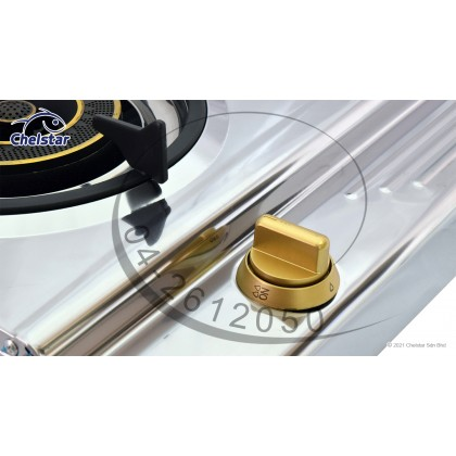 Chelstar Stainless Steel Double Burner Table Top Stove / Gas Cooker (X-118J)